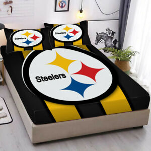 Pittsburgh Steelers Pocket Sheet 3PCS Fitted Sheets & Pillowcase Bedding Sets