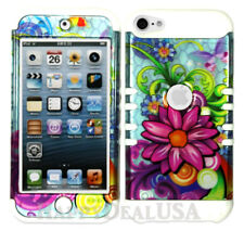 For Apple iPod Touch iTouch 5 | 6 - KoolKase Hybrid Cover Case Flower on Blue 30