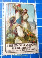 Cinderella/Poster Stamp - 1913 Croatia Hrvatska Jesenski Zbor u Zagrebu 864