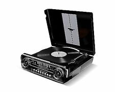 ION Audio Belt Drive Type Record Player Ford Mustang Made in 1965 LP Bk