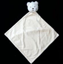 Edgehill Collection Bear Buddy Blanket Lovey Baby Security Cream Beige Plush