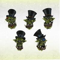 Ork War2 Cylinder Heads Orc Gentleorc Heads (10) Bitz Kromlech KRCB141