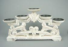 Unbranded Wooden Candelabra Candle & Tea Light Holders