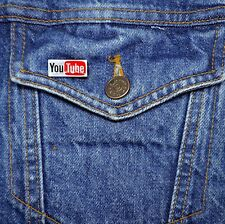 You Tube Logo Mini Pin - Metal Lapel Badge - Social Network - YouTube