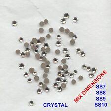 MIX FB11 *** 80 strass Swarovski fond plat mix dimensions:SS7,8,9,10 CRYSTAL