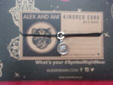 charm Black Kindred Pull Cord Bracelet Nwt New Alex and Ani Silver Wild Heart