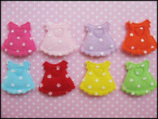 "80 Cute Padded Felt 1"" Baby Skirt w/polka dots Applique AO033"