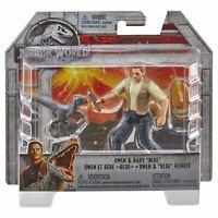 Jurassic World OWEN & BABY BLUE VELOCIRAPTOR Action Figure PlaySet Mattel Sealed