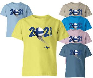 Finland 2021 Football Kids T Shirt Boys Soccer Training Jersey Sports Tee Top