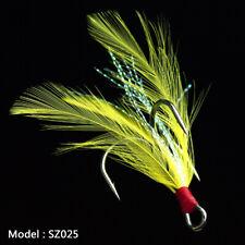 20pcs Fishing Hooks Treble With Feather Minnow Fishing Lures Crankbaits SZ25 10#