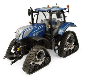 UH NEW HOLLAND T7.225 BLUE POWER TRACTOR WITH TRACKS 1/32 SCALE