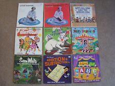 9 Vintage Children's Record Albums 5 Disney, Snow White, Mary Poppins & MORE!