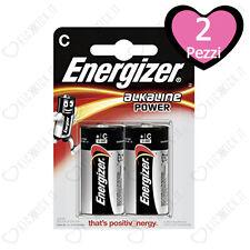 Batterie Energizer Alkaline Power C Mezzatorcia LR14 - Blister da 2 Pile