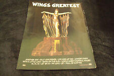 PAUL MCCARTNEY AND WINGS 1978 ad for Silly Love Songs, My Love, Jet, Beatles