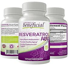 RESVERATROL 1450mg of Potent Antioxidants & Trans-Resveratrol, 90 Day Supply ,