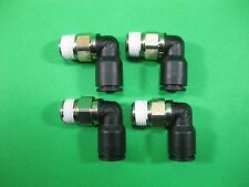Legris Male Stud Elbow Nickel Plated Brass 1/4 Tube -- 31095620 --(Lot of 4) New