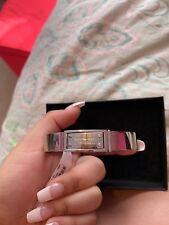 Michael Kors Authentic Logo Sterling Silver Thick Fashion Bangle Bracelet