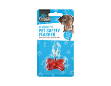 Hi visibility New LED Light Up Pet Safety Flasher Collar Clip Dog Cats Puppy UK