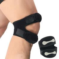 Qu_ Jumper Runner Knee Basketball Strap Support Band Patella Tendinitis Brace CA