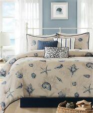 Madison Park Bayside 7-Pc. Seashell Ocean Coral Cotton Comforter Set - KING