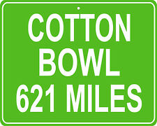 Cotton Bowl in Dallas, TX custom mileage sign your house