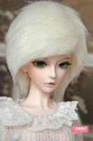 BJD doll wig 7-8 inch 18-20cm 1/4 BJD DOLL MSD Fur Wig Dollfie milky-white