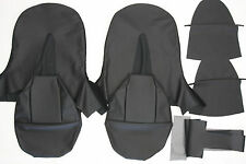 NEW JAGUAR XKE E-TYPE SI 3.8 LEATHER BUCKET SEAT COVER - BLACK FOR A COUPE