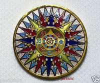 2008 Compass Rose Two Tone -Polished Gold & Polished Nickel- Unactivated Geocoin