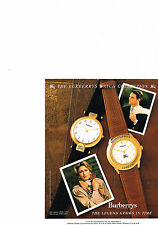 PUBLICITE ADVERTISING  1990   BURBERRYS OF LONDON   collection montre