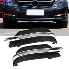 Quality 2x LED DRL Fog Light Lamp Cover For 2011-2013 Mercedes Benz C-Class W204