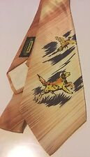 VINTAGE HAND PAINTED HUNTING DOG DUCK NECKTIE TIE Penny's Towncraft