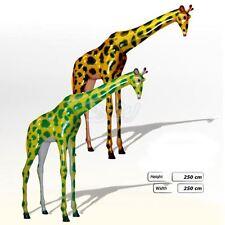 GIRAFFE 250 cm lebensgroß stehend GFK Deko Figur SAFARI AFRIKO ZOO Skulptur