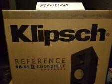 NEW Klipsch RB-61 II Reference Series Bookshelf Speakers set - Black