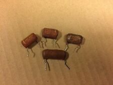4 Vintage Brown Drop .047 uf 400v Capacitors Guitar Tone Caps