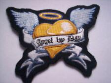 Ricamate patch MODELLO ANGEL Outline Turchese Dimensioni circa 10,5 cm a 7,5 cm