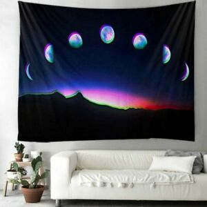 Magical Floral Moon Sun Indian Mandala Tapestry Wall Hanging Witchcraft