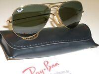 CIRCA1980's VINTAGE B&L RAY BAN 58[]14mm G15 GOLD PLATED AVIATOR SUNGLASSES MINT