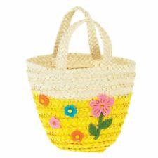Rex London Pink Woven Flower Basket Easter