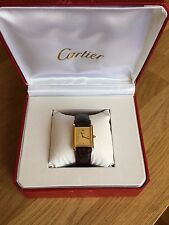 CARTIER MID SIZE TANK WATCH  BOXED