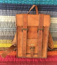 MAGNIFIQUE sac à dos en cuir véritable, genuine leather backpack Leder Rucksack