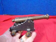 Vintage Miniature Brass Cannon #1