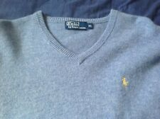 Ralph Lauren Polo Lambswool XL Jumper: Golf?: Mens: Quality: Light Blue: Sweater