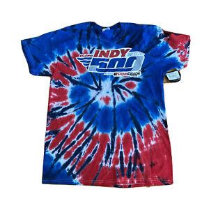 Indianapolis Indy 500 2018 Event Logo TIE DYE T-Shirt Mens Sz Medium Racing NWT