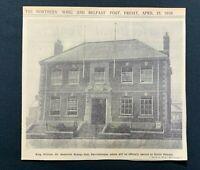 1938 Newspaper Clipping OPENING OF NEW ORANGE HALL, ALBERT ROAD, CARRICKFERGUS
