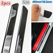 2PCS 485mm Carbon Fiber Car Scuff Plate Door Sill Cover Panel Step Protector