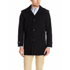 Tommy Hilfiger Mens Hooded Rain Trench Jacket Water...