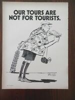 "1972 Vintage Magazine Cartoon by Richter, ""Our Tours Are Not For Tourists"""