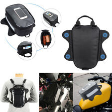 Motorcycle Sport Bike Magnetic Tank Bag Luggage Waterproof Black For BMW YAMAHA