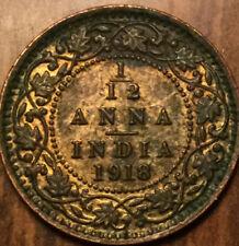 1918 INDIA GEORGE V 1/12 ANNA - UNC