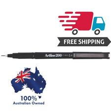 6 x Artline 200 BLACK Fineline Pens